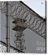 Prison Tower And Fence Acrylic Print