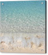 Pristine Beach At Half Moon Cay Acrylic Print