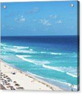 Pristine Beach In Cancun Acrylic Print
