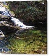 Pristine Stream Pool Acrylic Print