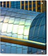 Pritzker Pavilion And Prudential Plaza Dsc2753 Acrylic Print