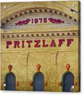 Pritzlaff Acrylic Print