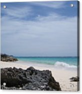 Private Bermuda Beach Acrylic Print