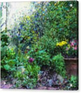Private Garden Acrylic Print