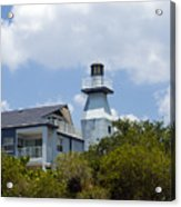 Private Lighthouse On The Indian River Lagoon In  Melbourne Florida Acrylic Print