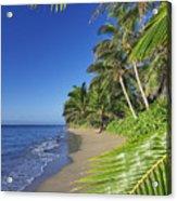 Private Molokai Beach Acrylic Print