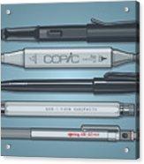 Pro Pens Acrylic Print