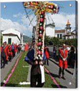 Procession In Furnas - Azores Acrylic Print