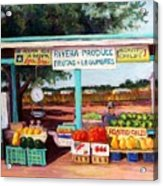 Produce Stand Acrylic Print