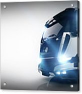 Professional Cargo Delivery Truck With Long Trailer. Banner Acrylic Print