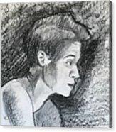 Profile Of A Black Woman Acrylic Print