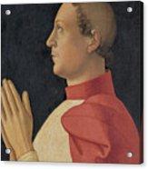 Profile Portrait Of Cardinal Philippe De Levis Acrylic Print