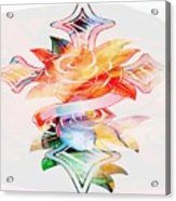 Profound Thought Cross And Roses Acrylic Print
