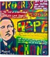 Progress Acrylic Print by Tony B Conscious