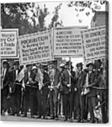 Prohibition Protestors Acrylic Print
