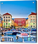Prokurative Square In Split Evening Colorful View Acrylic Print