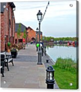 Promenade And Boats At Barton Marina Acrylic Print
