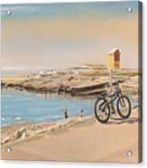 Promenade At Salthill Galway Acrylic Print