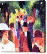 Promenade II By August Macke Acrylic Print