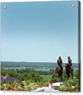 Prophets Last Ride  Bronze Monument Of Hyrum And Joseph Smith In Nauvoo Illinois Acrylic Print