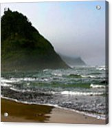 Proposal Rock At Neskowin Beach Acrylic Print