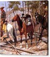 Prospecting For Cattle Range 1889 Acrylic Print