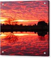 Dramatic Orange Sunset Acrylic Print