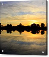 Prosser Sunset - Blue And Gold Acrylic Print