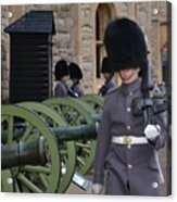 Protecting The Tower Of London Acrylic Print