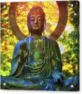 Protection Buddha #2 In Japanese Tea Garden At Golden Gate Park - San Francisco Acrylic Print