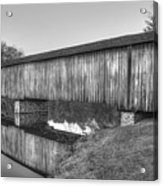 Protection That Works Historic Watson Mill Covered Bridge Acrylic Print