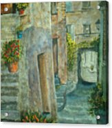 Provence Alley Acrylic Print