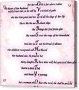 Proverbs 31 Acrostic Acrylic Print