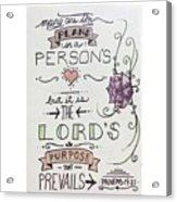 Proverbs Nineteen Verse Twenty One  Acrylic Print