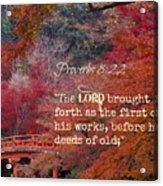 Proverbs105 Acrylic Print