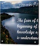 Proverbs114 Acrylic Print