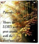 Proverbs115 Acrylic Print