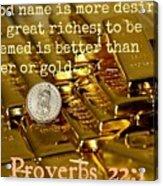 Proverbs117 Acrylic Print