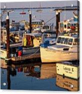 Provincetown Fishing Boats, Ptown, Ma Acrylic Print