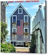 Provincetown Patriot By Sharon Eng Acrylic Print