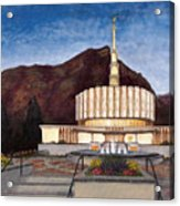 Provo Temple Acrylic Print by Jeff Brimley