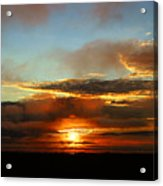 Prudhoe Bay Sunset Acrylic Print