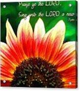 Psalm 149 1 Acrylic Print