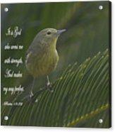 Psalm 18 V 32 Acrylic Print