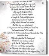 Psalm 34 Pg 2 Acrylic Print