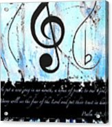 Psalm 40/3 Blue Acrylic Print