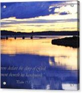 Psalm Reflected At Acadia National Park Two Acrylic Print
