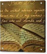 Psalms101 Acrylic Print