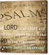 Psalms102 Acrylic Print