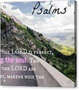 Psalms103 Acrylic Print